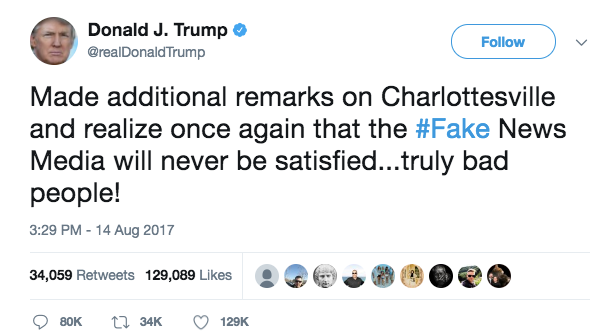 Until Trump apologizes for his Nazi sympathizing, he will never be 'presidential'