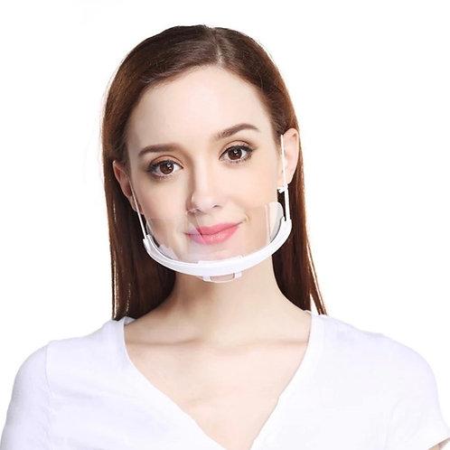 Transparent Face/Mouth Shield x2