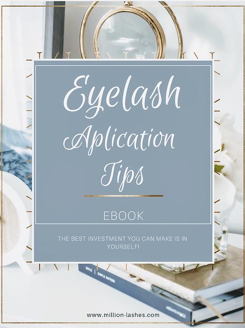 EYELASH APLICATION TIPS EBOOK