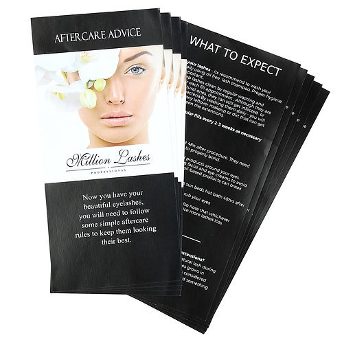 Aftercare Leaflets for Clients