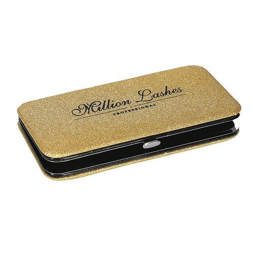 Gold Glitter  Magnetic Tweezers Case