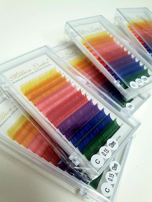 New Colour Lashes C Curl 0.15mm