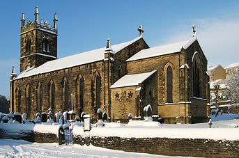 Holmbridge Church in the snow