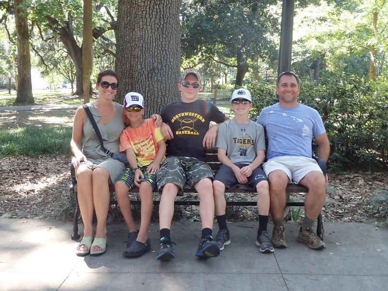 Park Bench Family