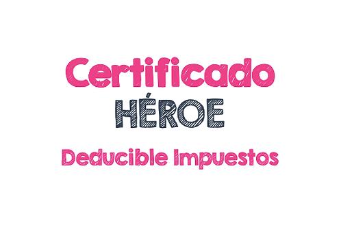 Certificado de donación para Casa Tapitas