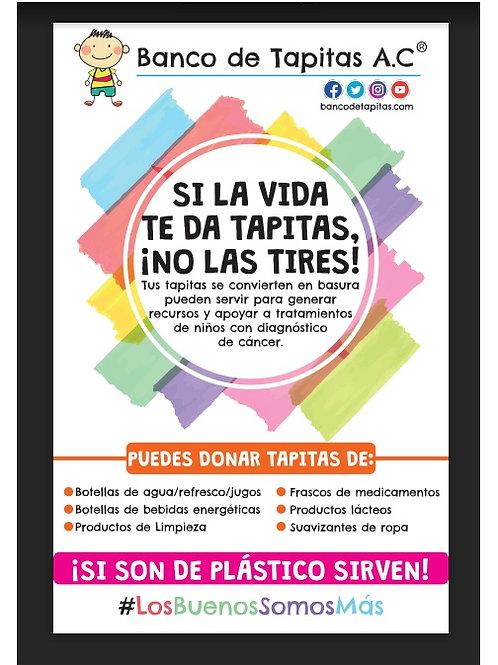 Lona oficial de Campañas de Tapitas