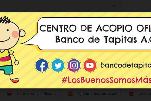 Lona oficial Banco de Tapitas