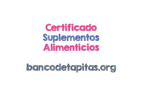 Certificado de donación de suplementos