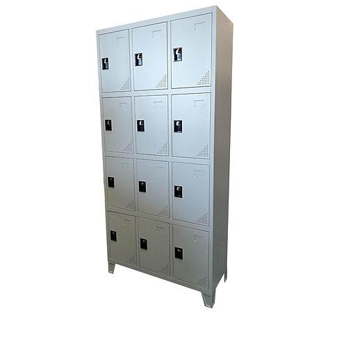 Locker de 12 compartimentos Metálico