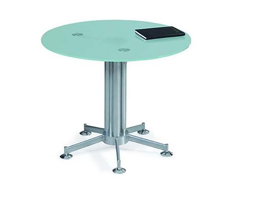 Mesa de Conferencia con vidrio Transparente redonda de 1,20 cm