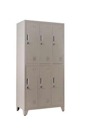 Locker metalico de 6 compartimientos.