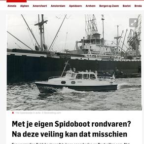 Voormalige Spido 'Schottelboot' pronkstuk op internationale bootveiling