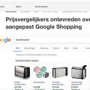 Vergelijk.nl als eerste vergelijkingssite zichtbaar in Google Shopping
