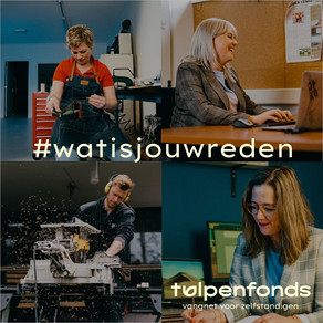 Tulpenfonds vraagt zzp'ers naar #watisjouwreden