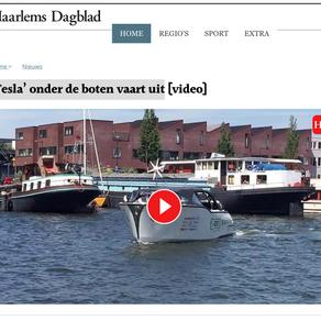 Nederlandse elektrische boot CO2-Zero maakt 'bewijsreis' van Amsterdam naar de Côte d'Azur