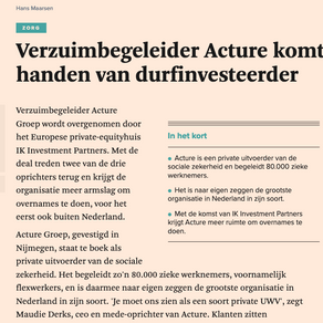 IK Investment Partners verwerft Acture Groep