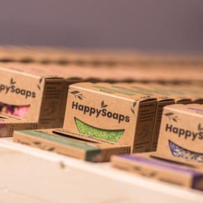 HappySoaps beschikbaar in eerste Belgische supermarkten