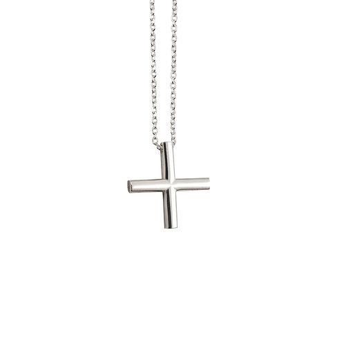 CR.P.110 Silver Pendant in Silver Chain