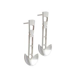 CLE105 silver earrings