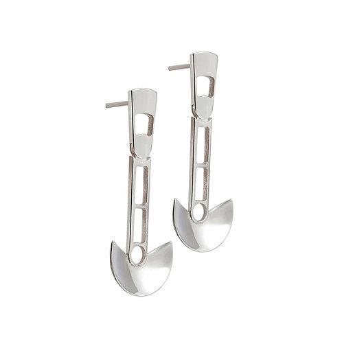 CL.E.105 Silver Drop Earrings