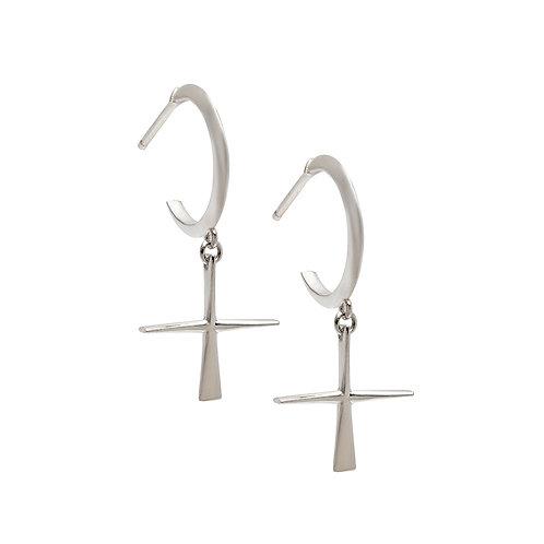 CR.E.101 Silver Drop Earrings