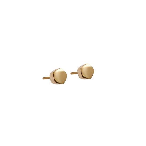 Silver Pentagon Stud Earrings B.E.106