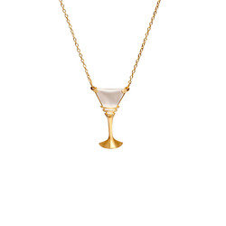 SP100 silver pendant gold