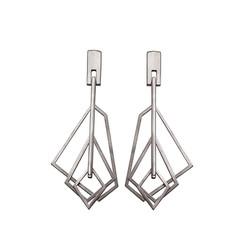 GE114 silver earrings