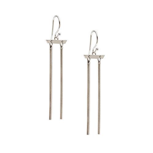 CL.E.118 Silver Drop Earrings