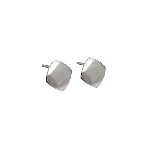 B.E.105 Silver Stud Earrings