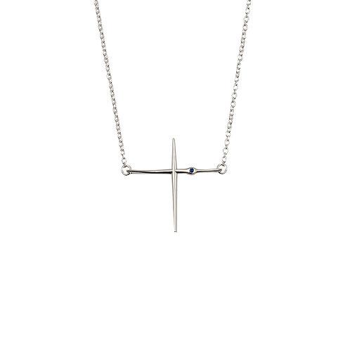 CR.P.120 Silver Pendant in Silver Chain