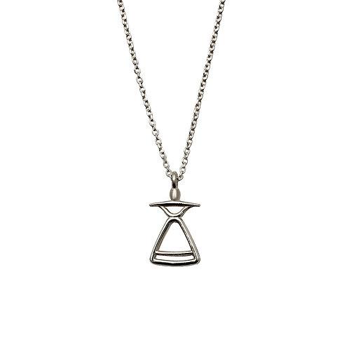 REV.P.103 Silver Pendant in Silver Chain