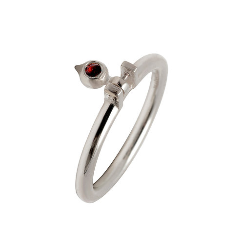 U.R.102 Silver Ring with Gemstone