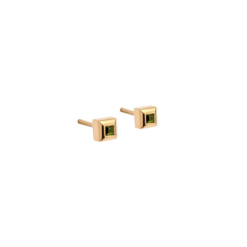 CL.E.116 Silver Stud Earrings with Tourmalines or Garnet