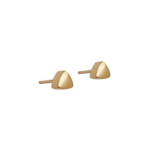 B.E.108 Silver Stud Triangle Earrings