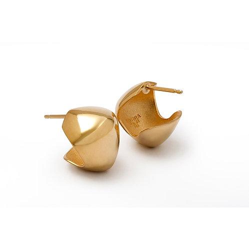 Silver Elliptical Stud Earrings B.E.101