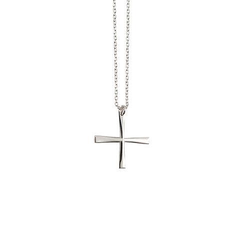 CR.P.115 Silver Pendant in Silver Chain