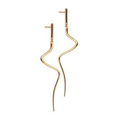 TE102 silver earrings gold