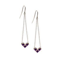 SE100 silver earrings amethyst