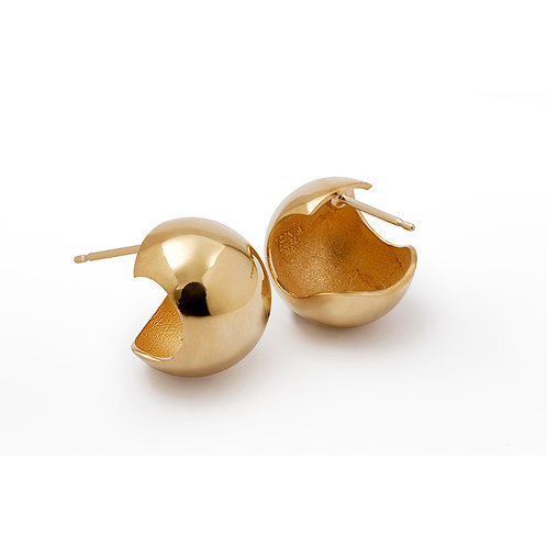 B.E.100 Silver Sphere Stud Earrings