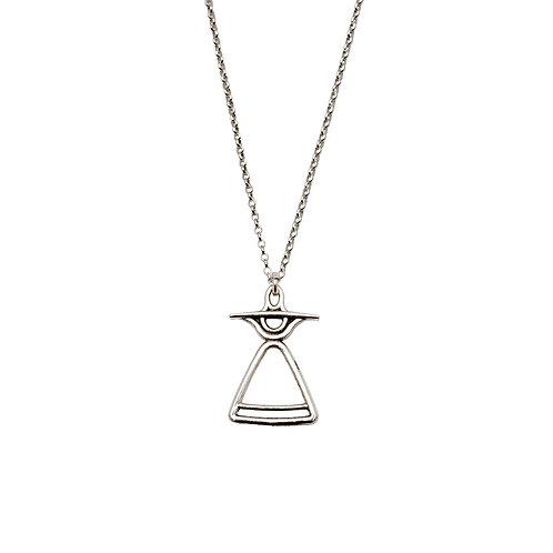 REV.P.102 Silver Pendant in Silver Chain