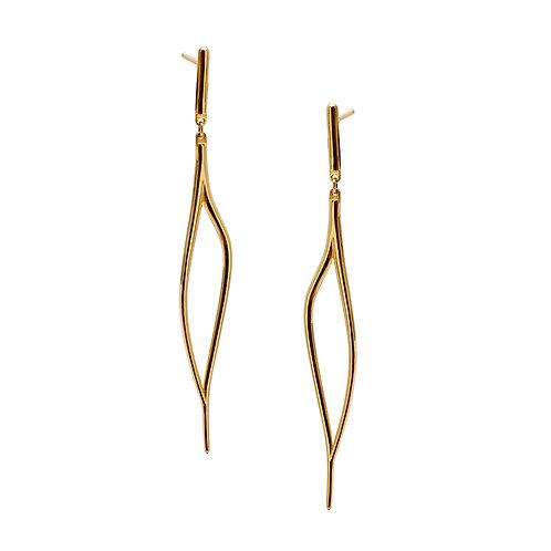 T.E.105 Silver Dangle Earrings