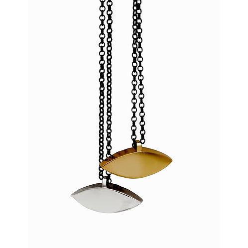 EYE.P.100 Silver Pendant in Silver Chain