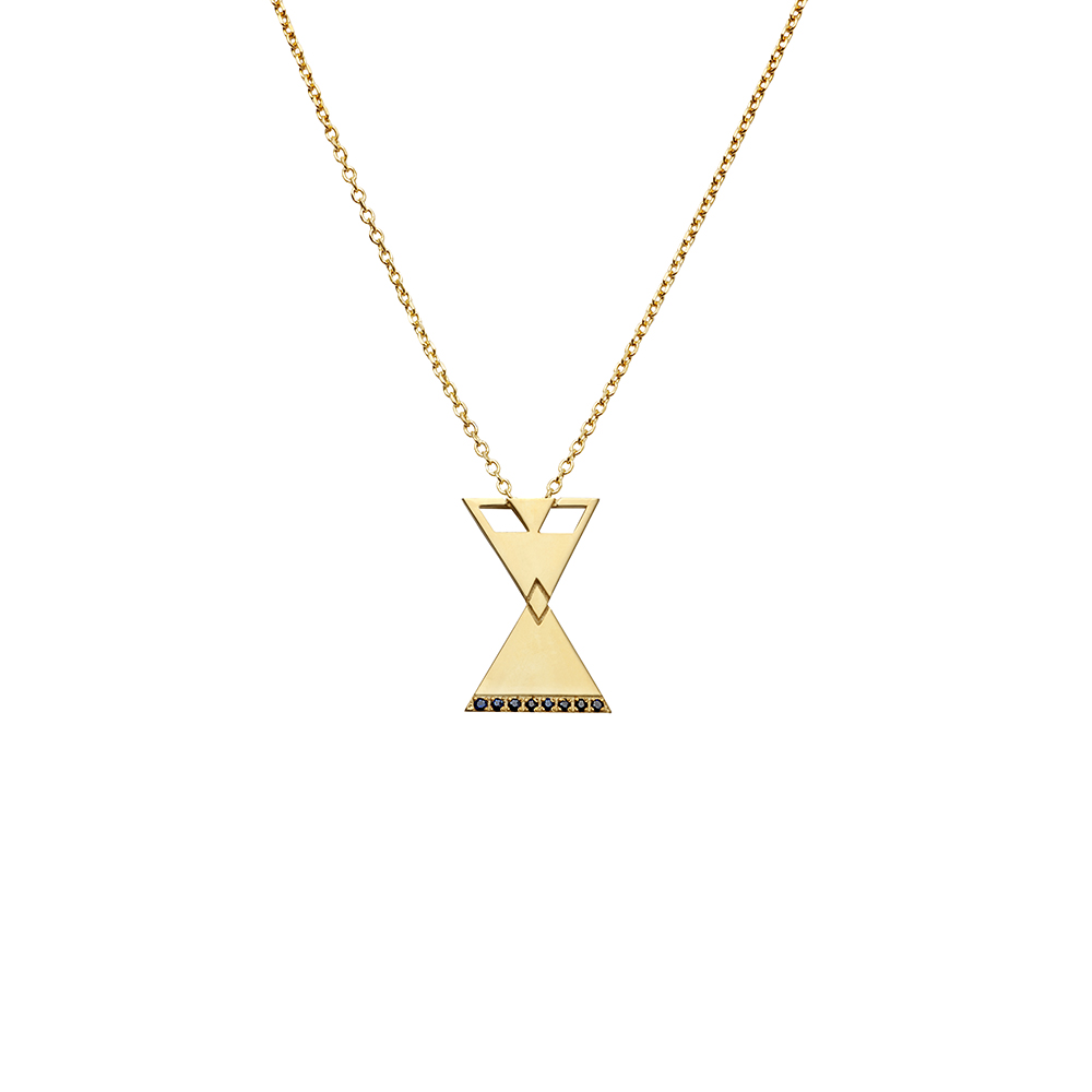 MP101 silver pendant gold