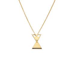 MP101 silver pendant gold
