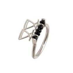 REVR101 silver ring black