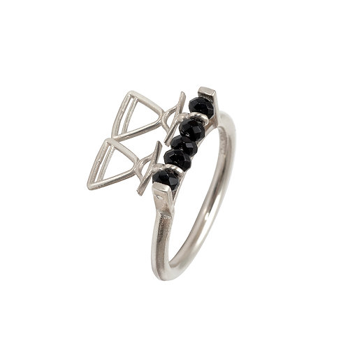 REV.R.102 BLACK Silver Ring