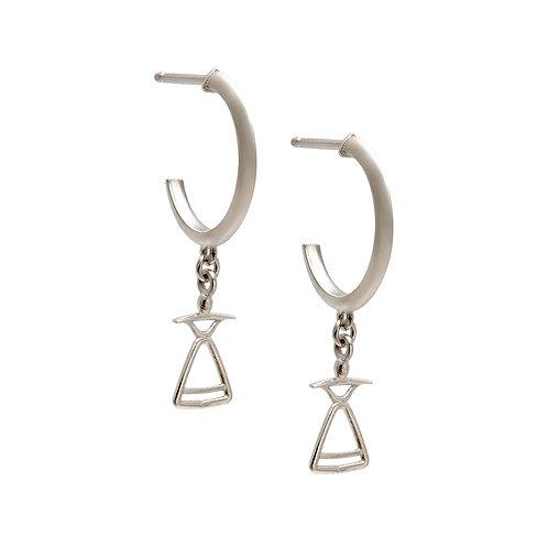 REV.E.102 Silver Drop Earrings