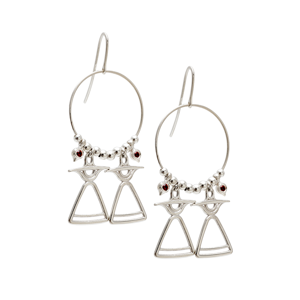 REVE101 silver earrings