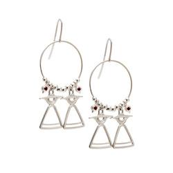 REVE101 silver earrings